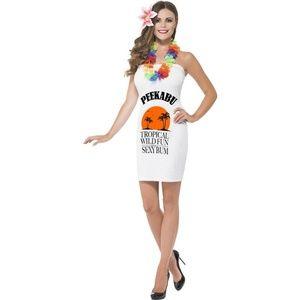 NWT Smiffy's Peekabu Caribbean Fun Printed Dress